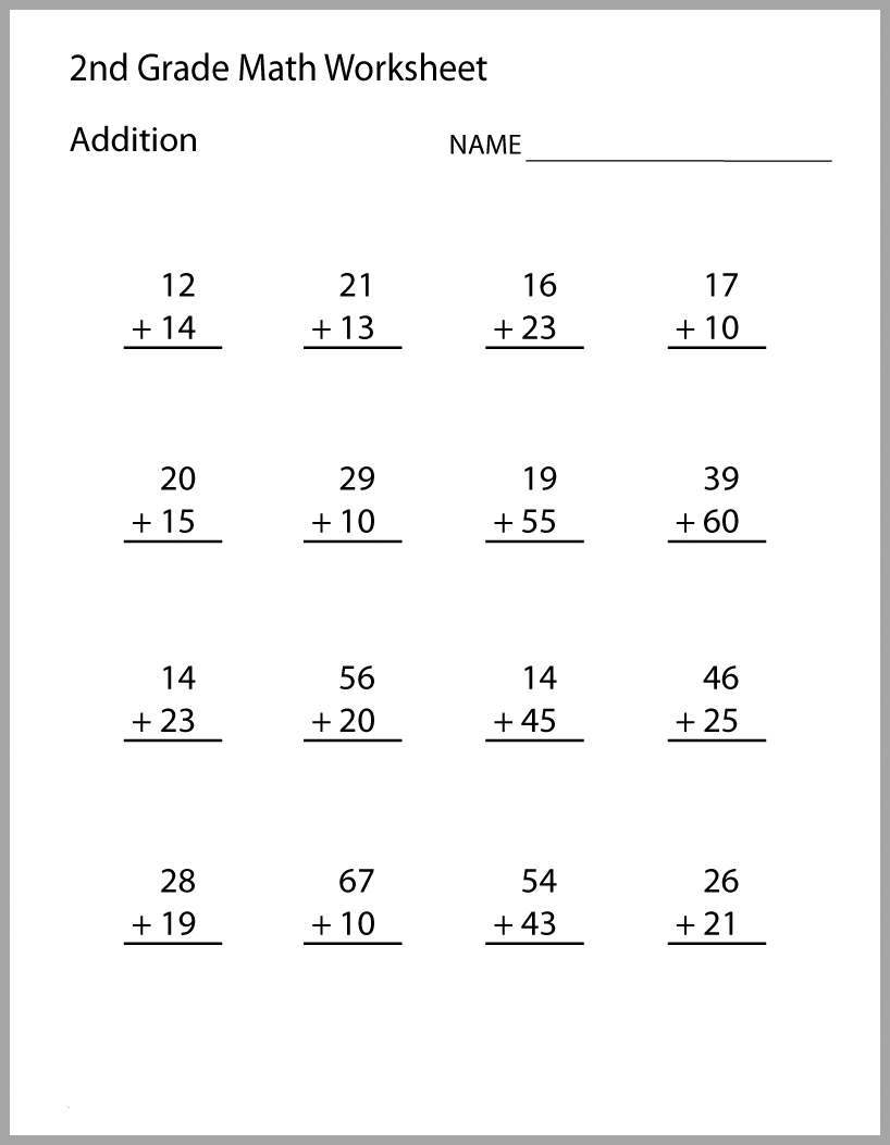 medium resolution of 2nd Grade Math Worksheets - Best Coloring Pages For Kids