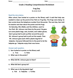 2nd Grade Reading Worksheets - Best Coloring Pages For Kids [ 2200 x 1700 Pixel ]