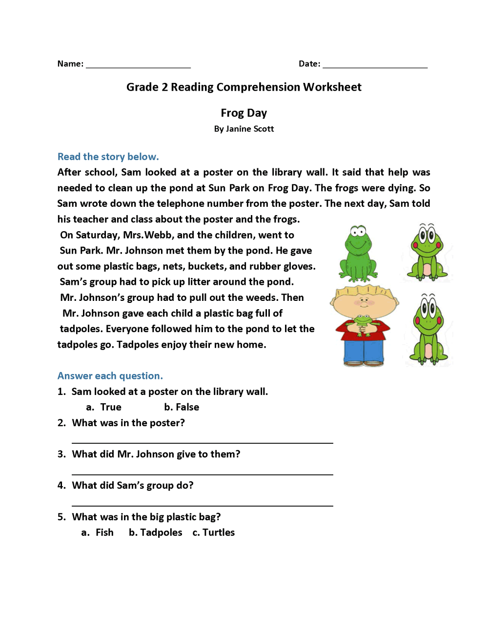 medium resolution of 2nd Grade Reading Worksheets - Best Coloring Pages For Kids
