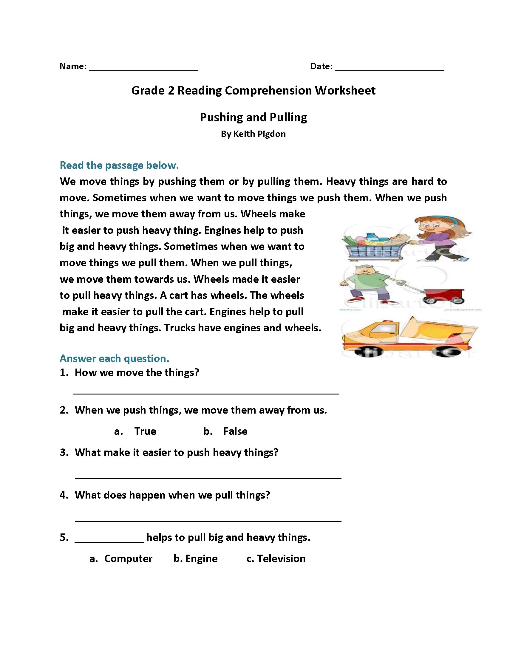 hight resolution of 2nd Grade Reading Worksheets - Best Coloring Pages For Kids