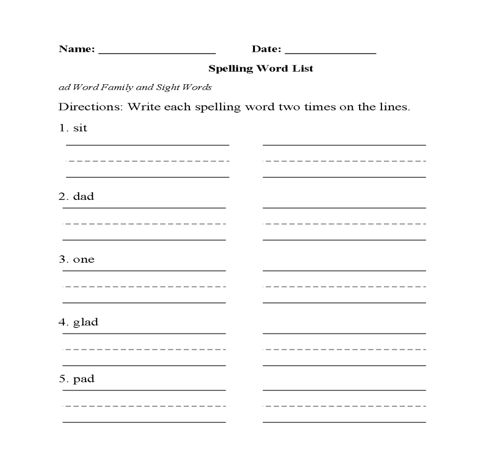 medium resolution of 2nd Grade Spelling Worksheets - Best Coloring Pages For Kids