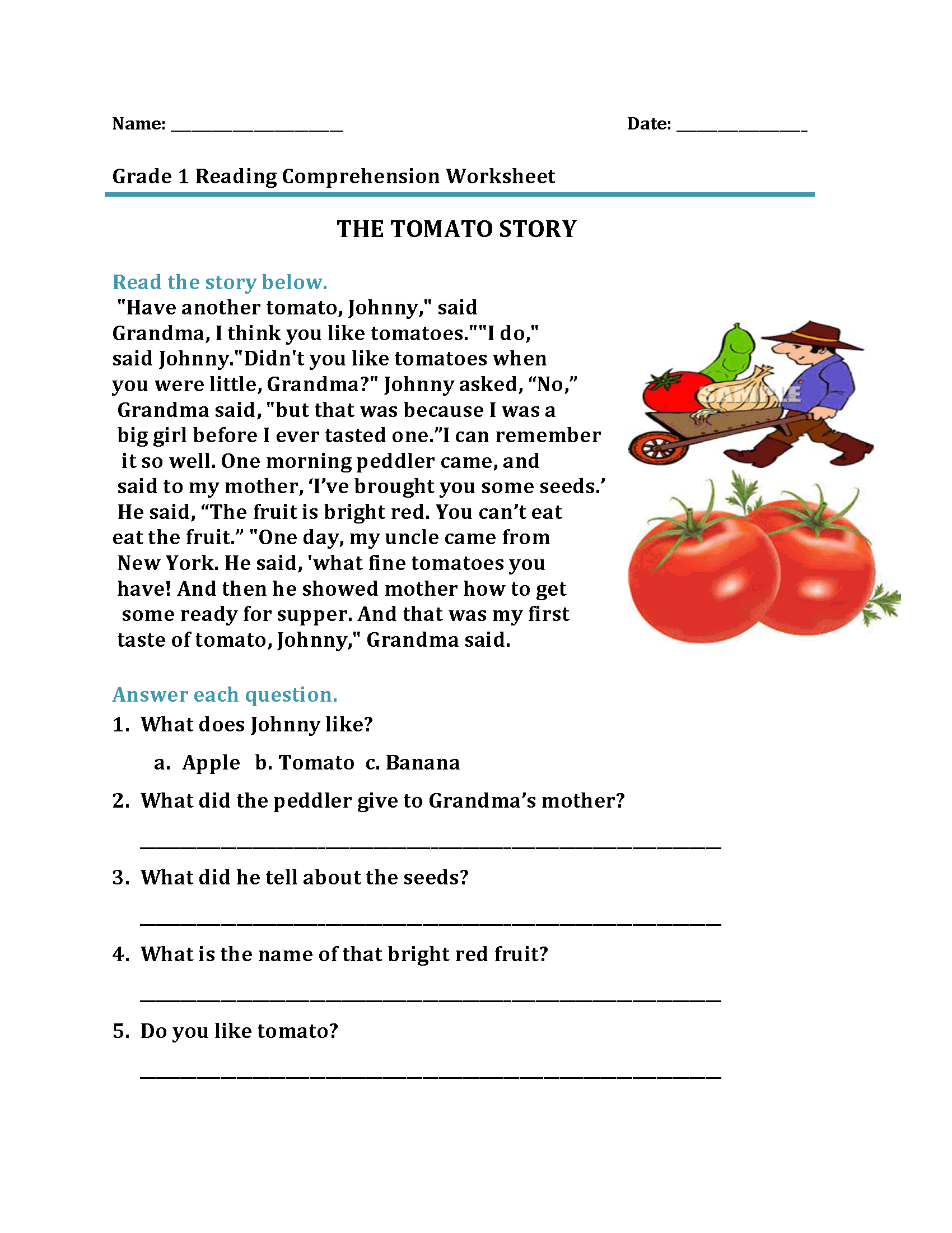 hight resolution of 1st Grade Reading Worksheets - Best Coloring Pages For Kids