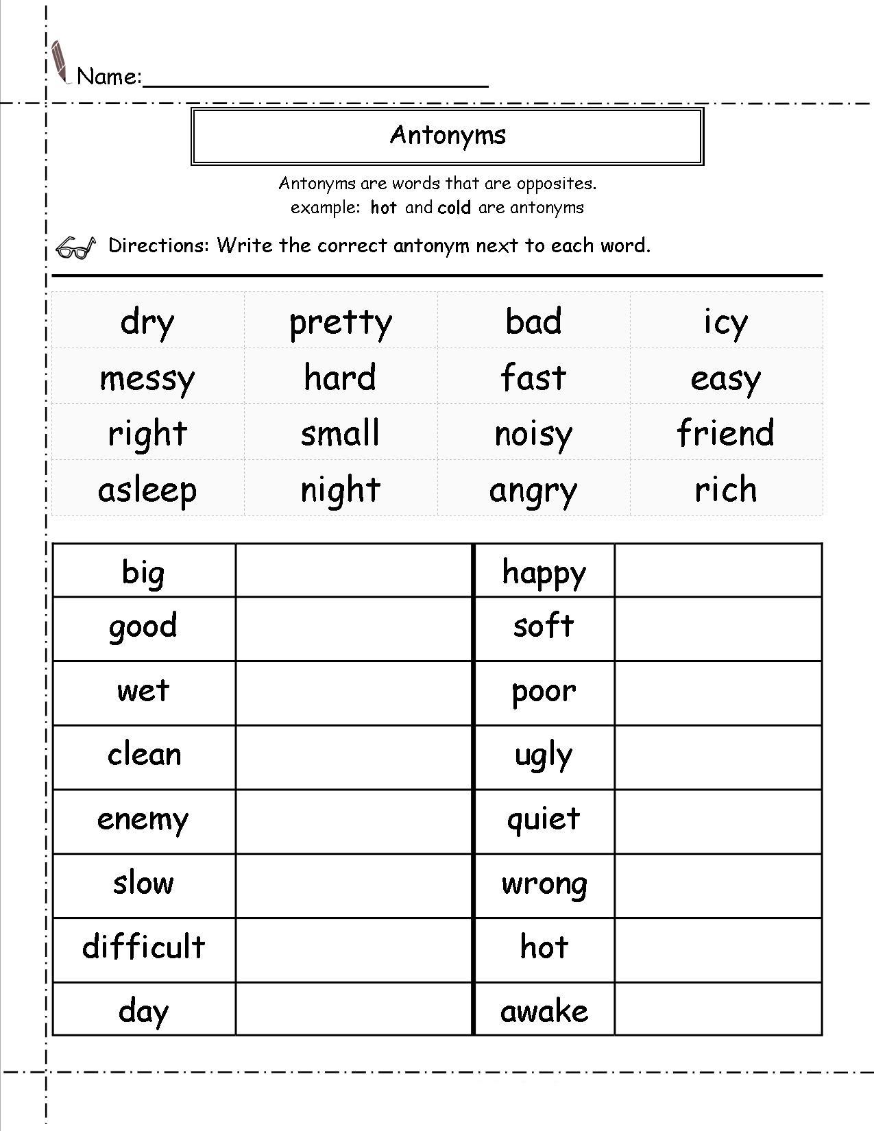 2nd Grade English Worksheets