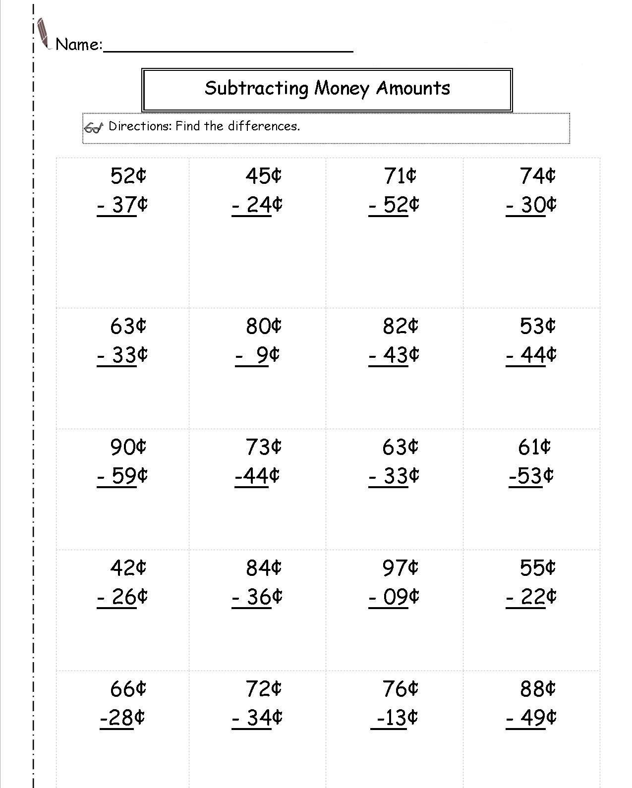 2nd Grade Money Worksheets