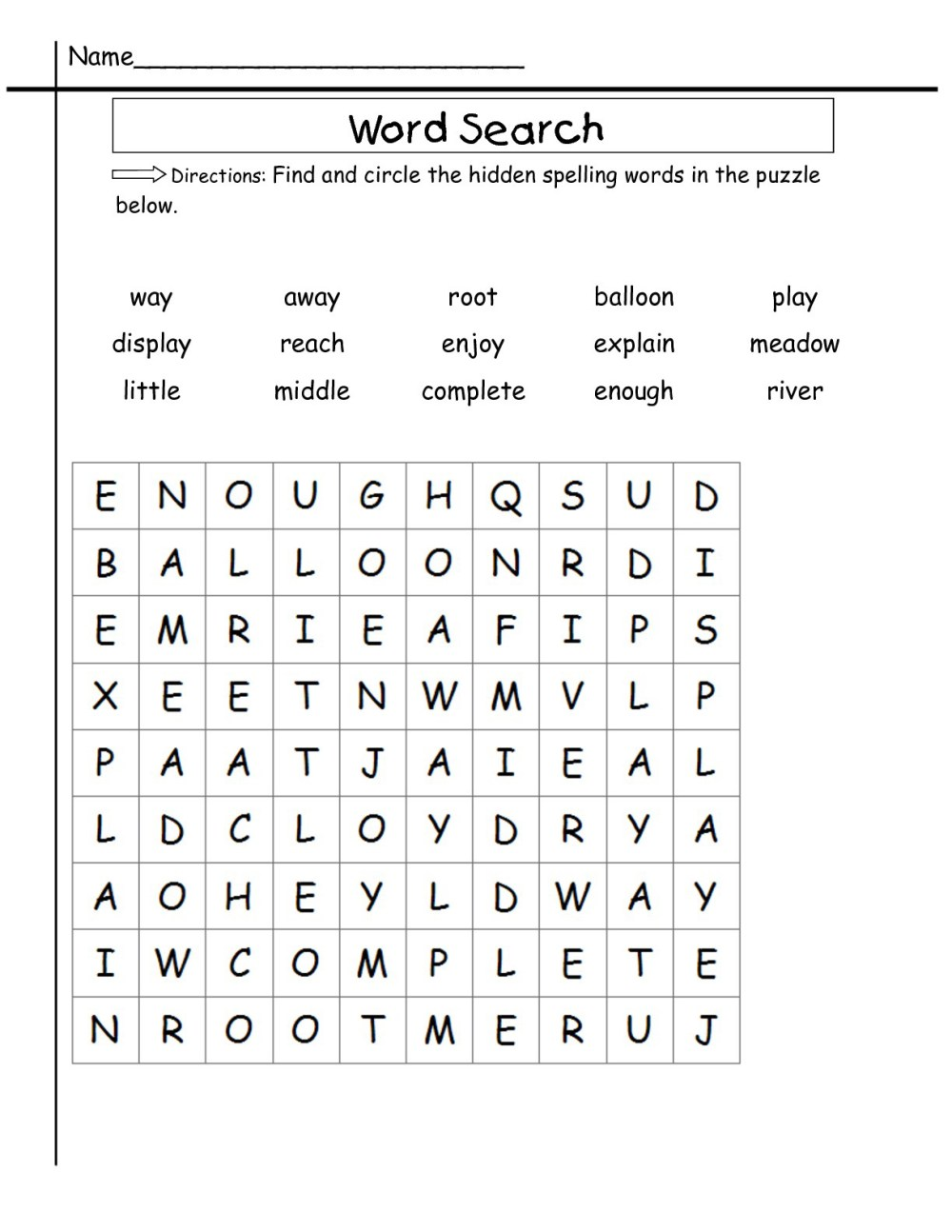 medium resolution of 2nd Grade Word Search - Best Coloring Pages For Kids