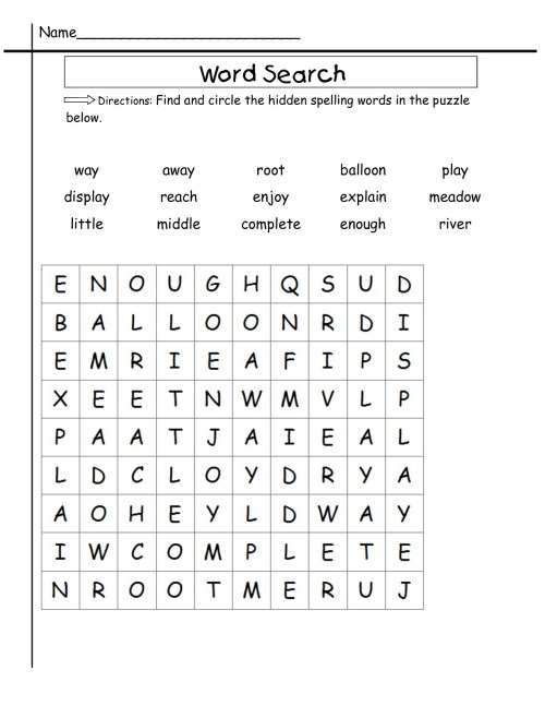 small resolution of 2nd Grade Word Search - Best Coloring Pages For Kids