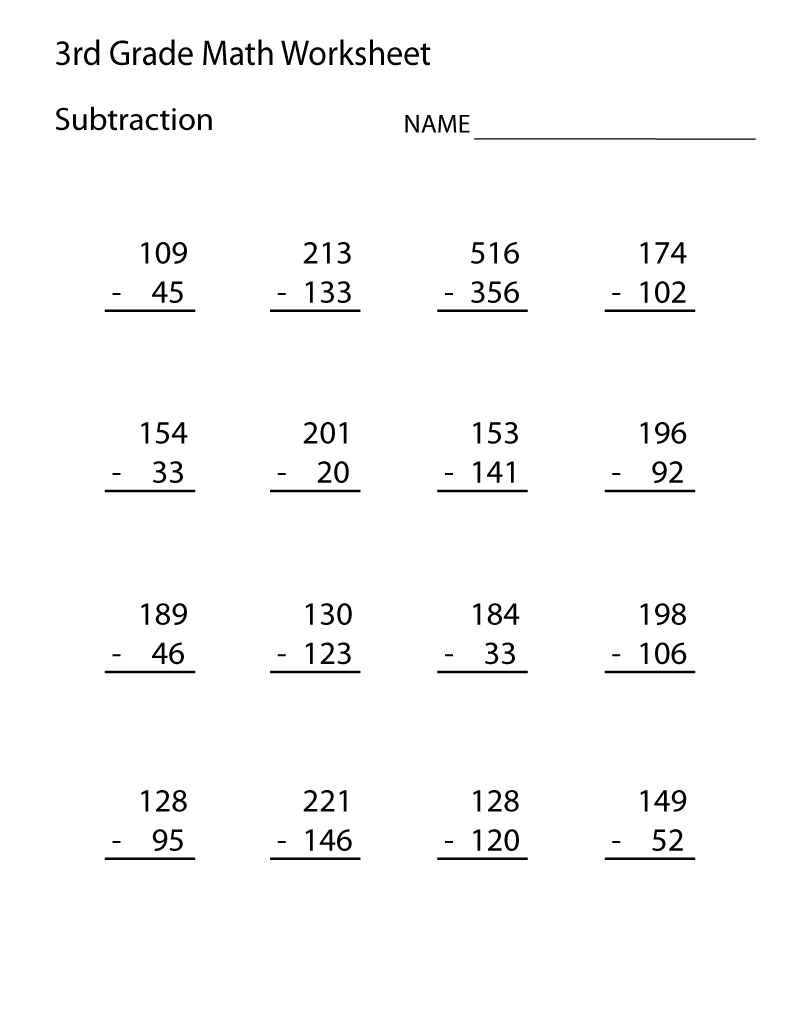 hight resolution of 3rd Grade Math Worksheets - Best Coloring Pages For Kids