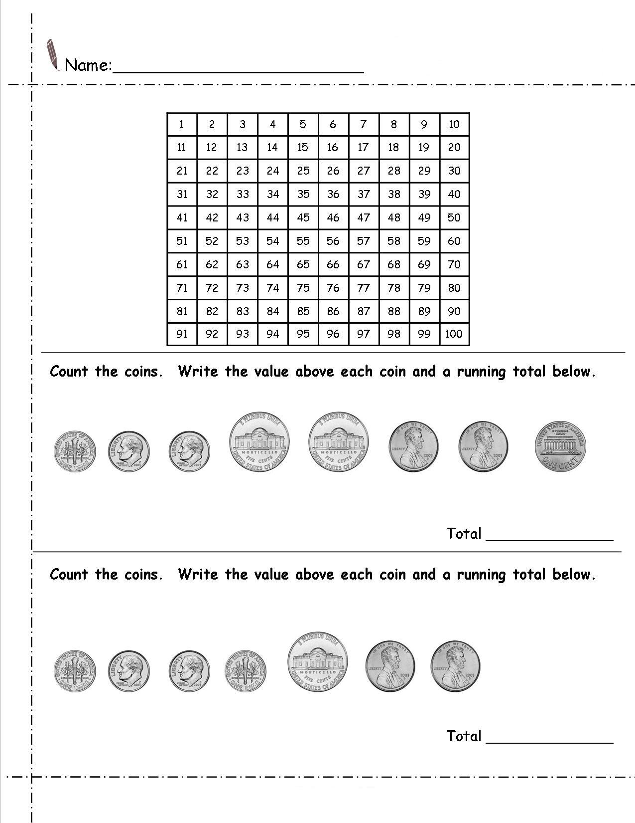2nd Grade Money Worksheets