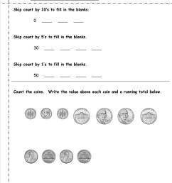 2nd Grade Money Worksheets - Best Coloring Pages For Kids [ 1650 x 1275 Pixel ]