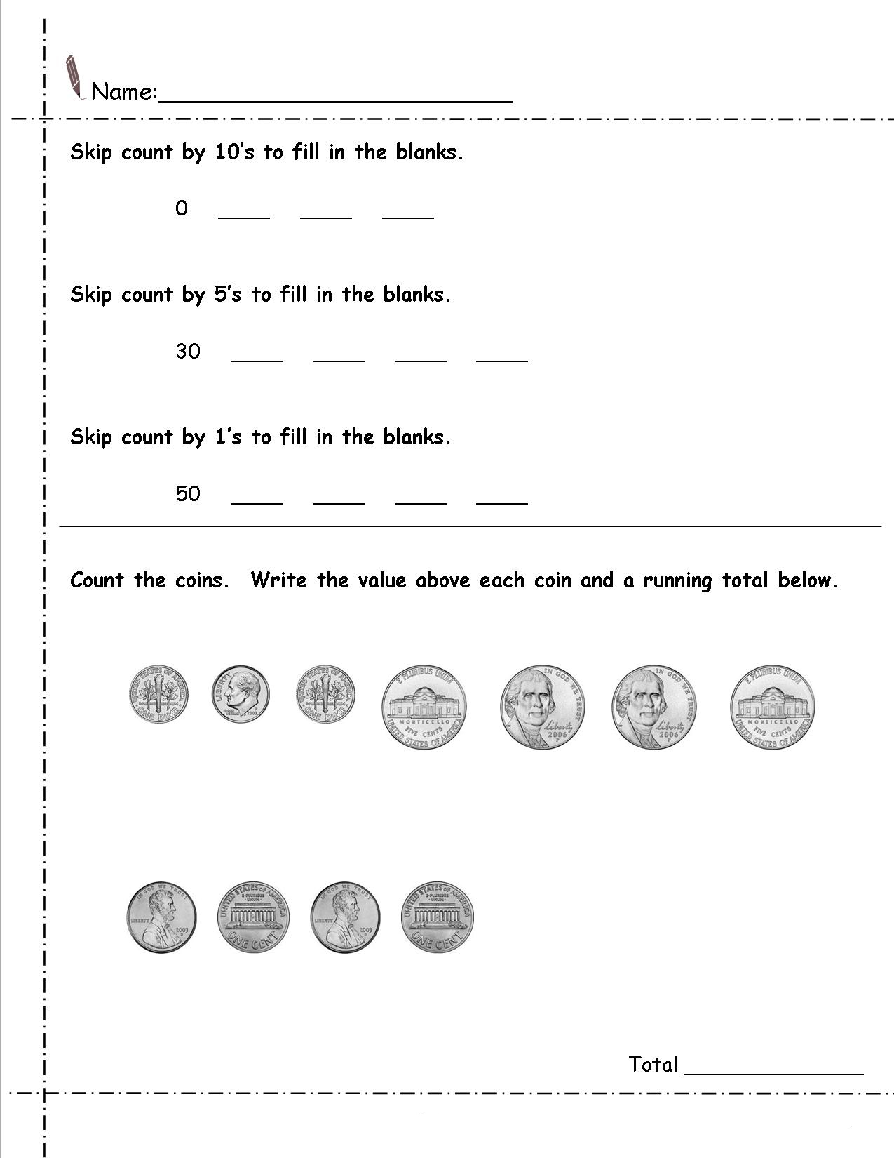 hight resolution of 2nd Grade Money Worksheets - Best Coloring Pages For Kids
