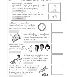 3rd Grade Math Word Problems - Best Coloring Pages For Kids [ 2200 x 1700 Pixel ]