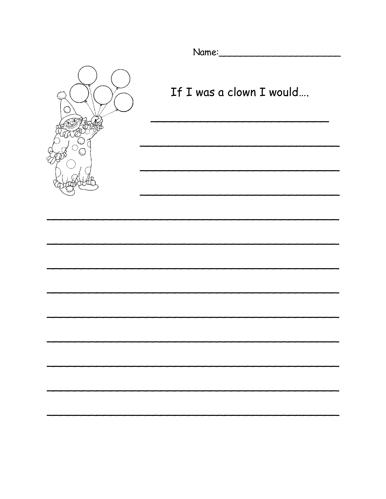 3rd Grade Writing Worksheets