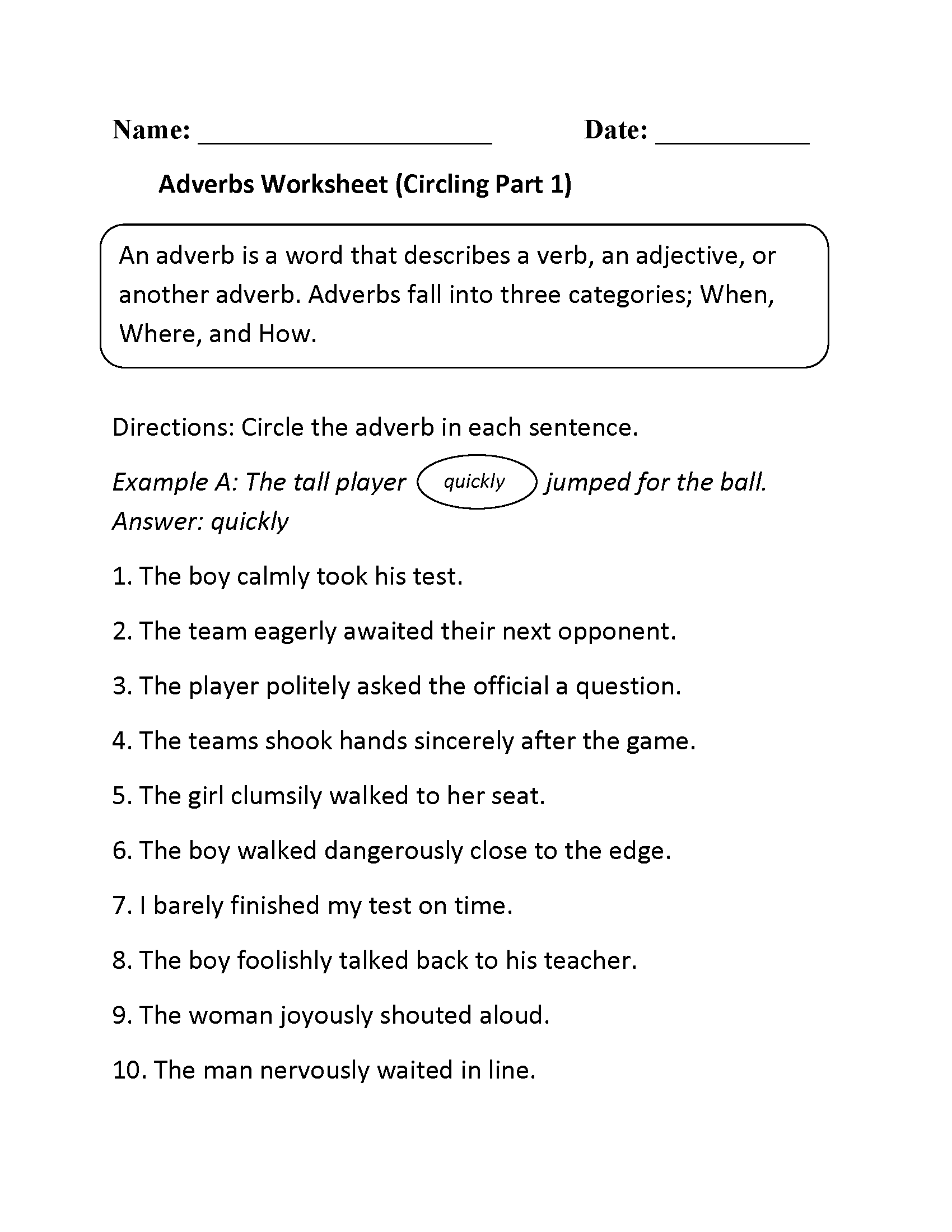 4th Grade Worksheets