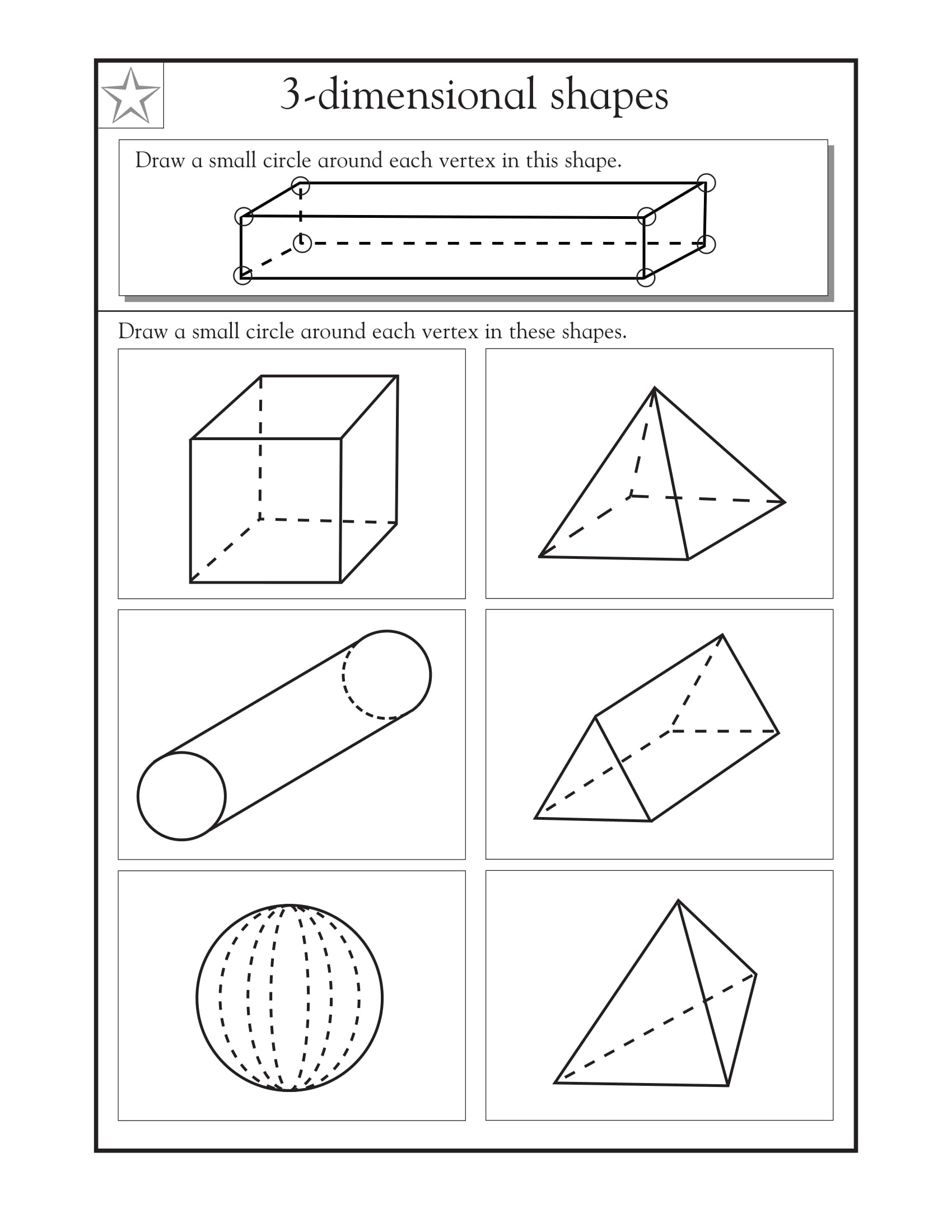 40 Best Collections 3d Shapes Drawing Worksheet