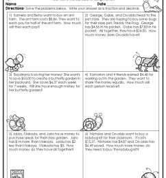 4th Grade Math Word Problems - Best Coloring Pages For Kids [ 1056 x 816 Pixel ]