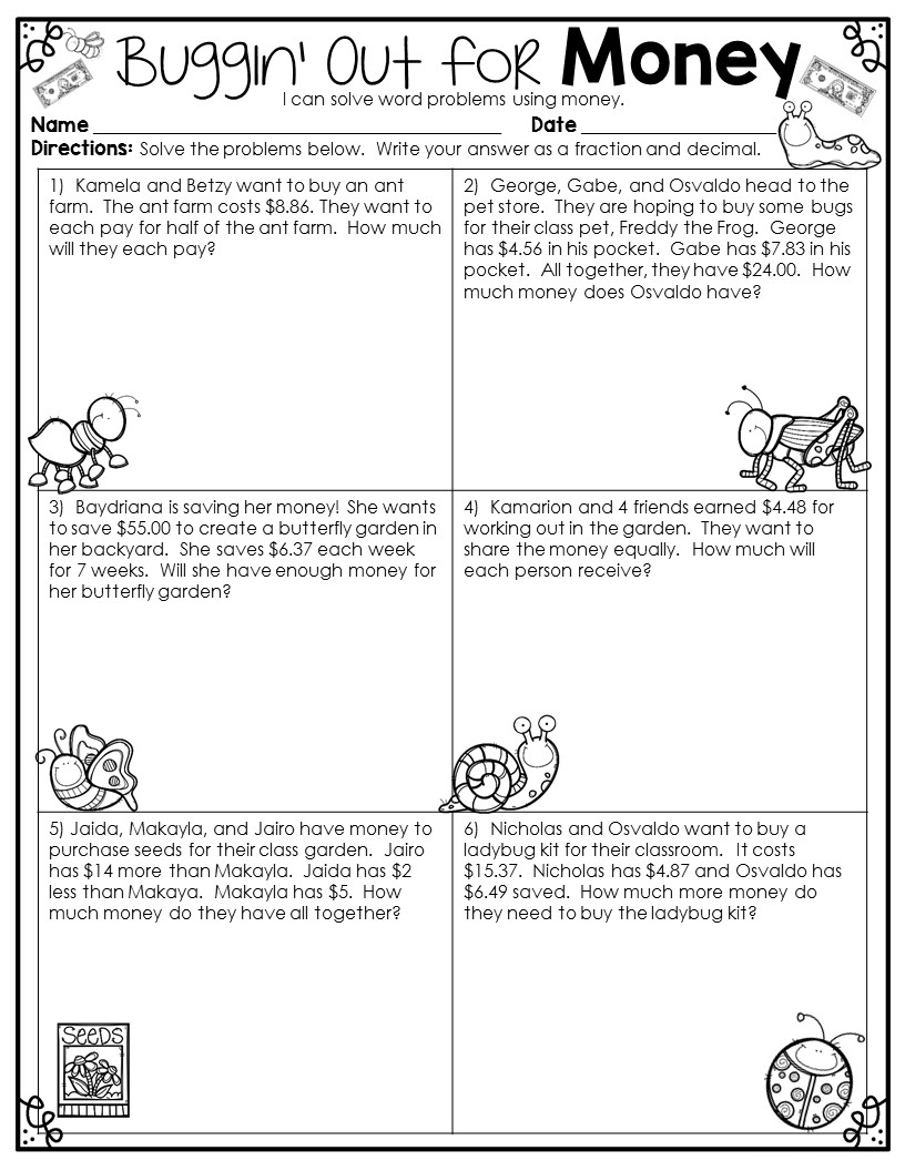 hight resolution of 4th Grade Math Word Problems - Best Coloring Pages For Kids
