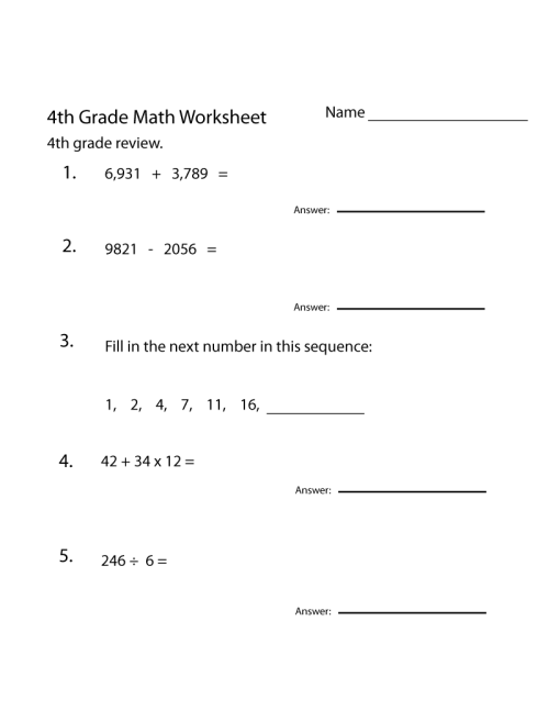 small resolution of 4th Grade Math Worksheets - Best Coloring Pages For Kids