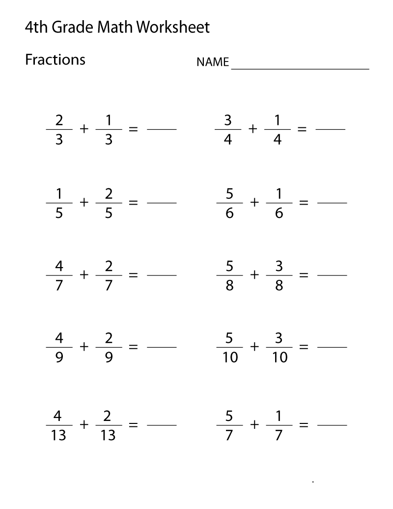 hight resolution of 4th Grade Math Worksheets - Best Coloring Pages For Kids