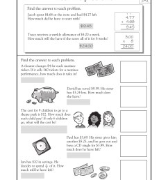 4th Grade Math Word Problems - Best Coloring Pages For Kids [ 2200 x 1700 Pixel ]