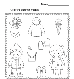 Summer Worksheets - Best Coloring Pages For Kids [ 1035 x 800 Pixel ]