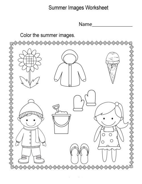 small resolution of Summer Worksheets - Best Coloring Pages For Kids