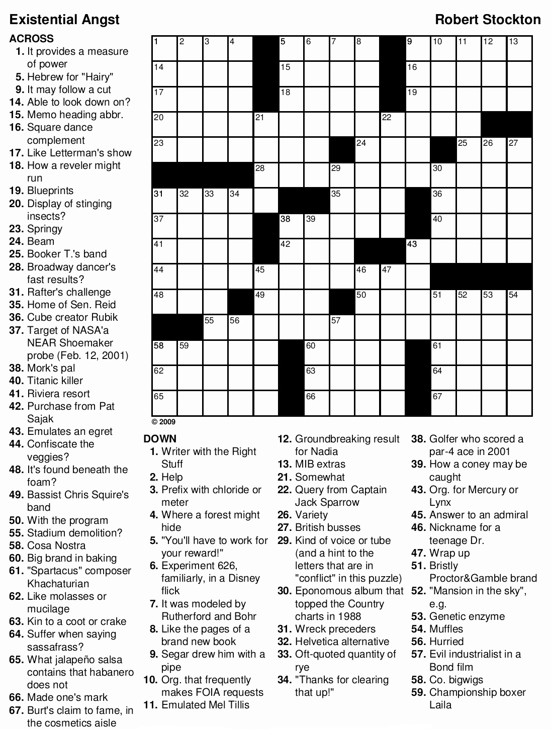 Crossword Puzzles For Adults