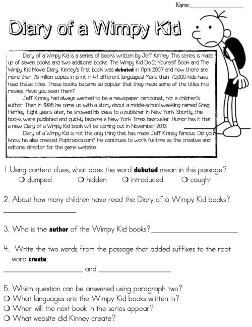 small resolution of Reading Comprehension Worksheets - Best Coloring Pages For Kids