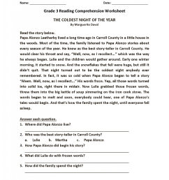 Reading Comprehension Worksheets - Best Coloring Pages For Kids [ 2174 x 1680 Pixel ]