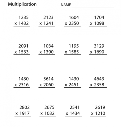4th Grade Multiplication Worksheets - Best Coloring Pages For Kids [ 1074 x 830 Pixel ]