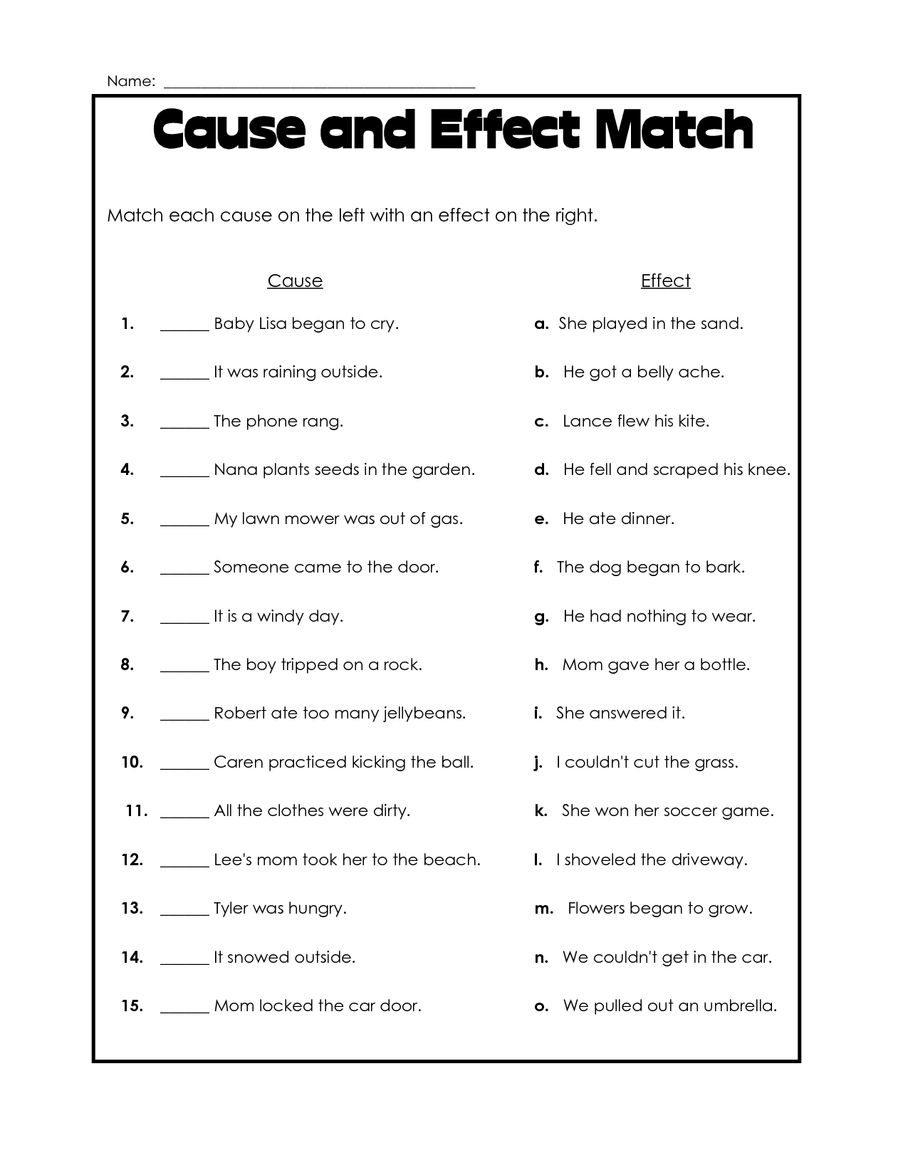 Fourth Grade Ela Worksheets