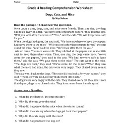 4th Grade Reading Comprehension Worksheets - Best Coloring Pages For Kids [ 2200 x 1700 Pixel ]
