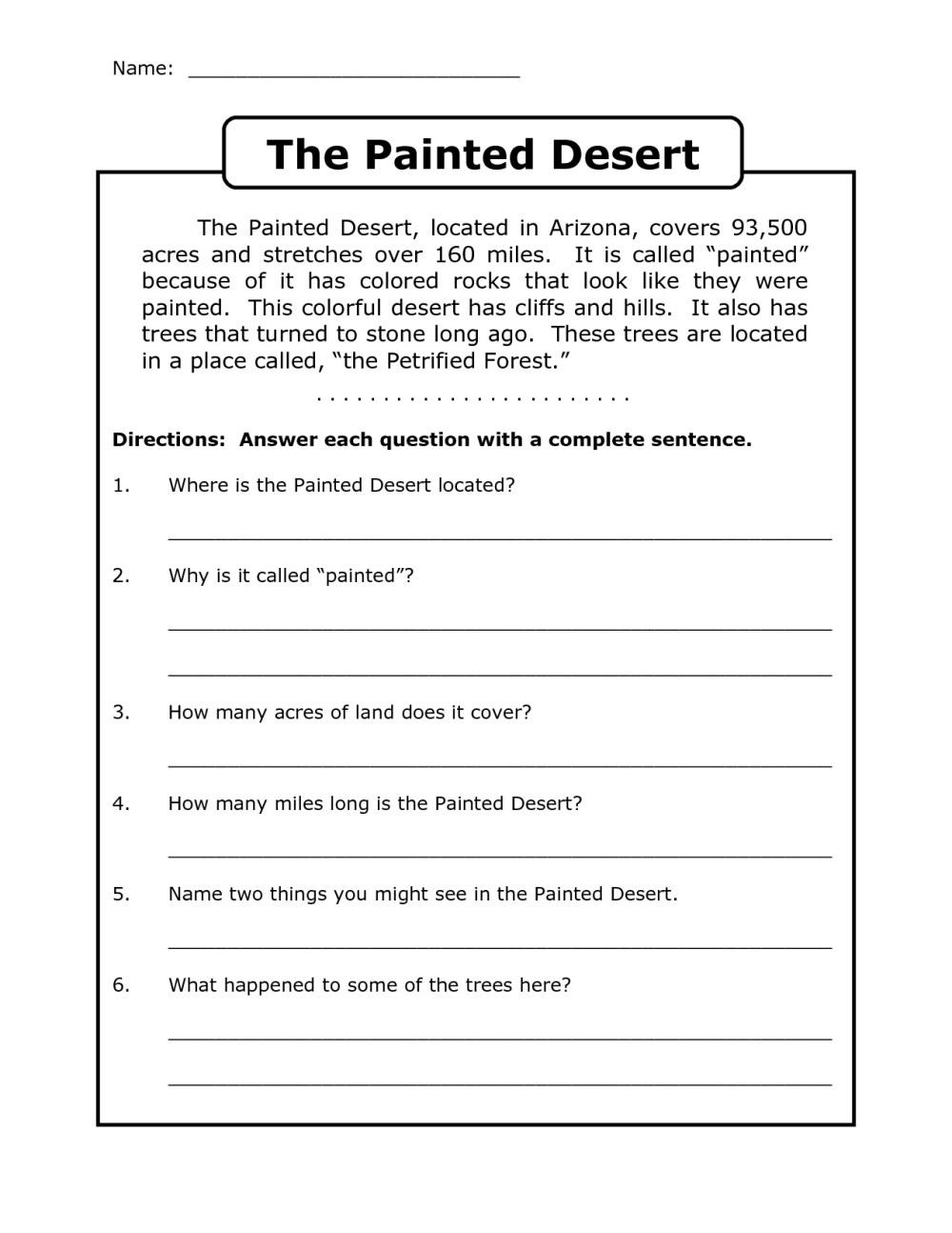 medium resolution of 4th Grade Reading Comprehension Worksheets - Best Coloring Pages For Kids