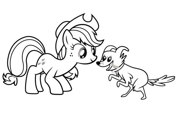 applejack coloring page # 42