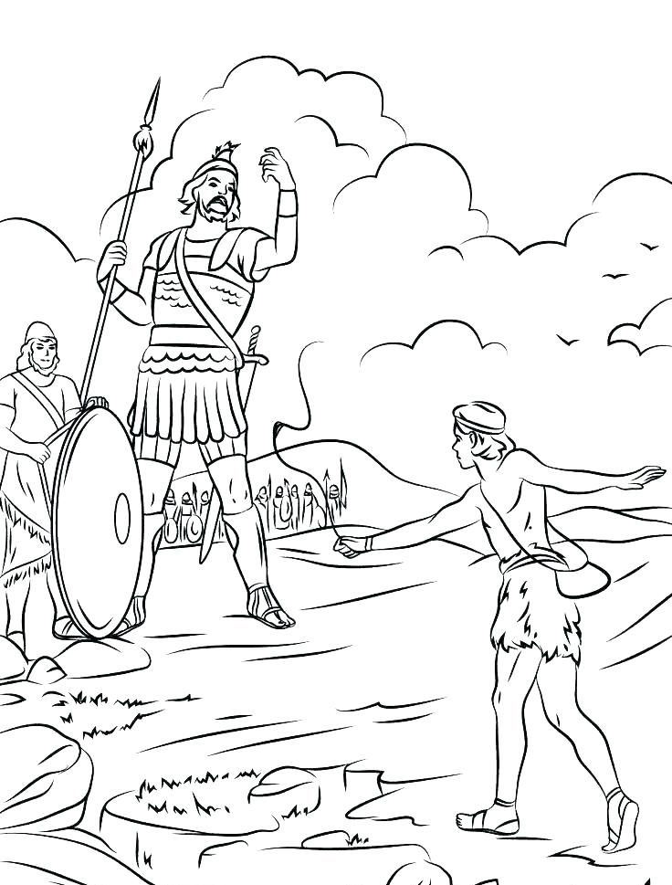David And Goliath Coloring Pages Best Coloring Pages For Kids