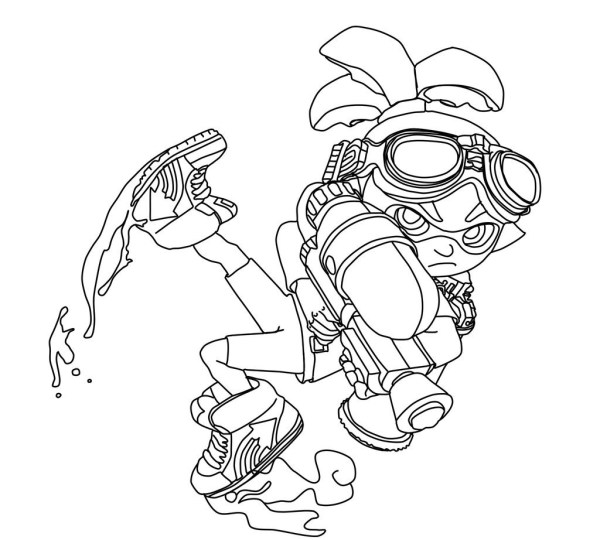 squid coloring sheets # 39