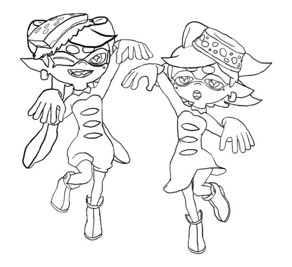 squid coloring pages for kids # 23
