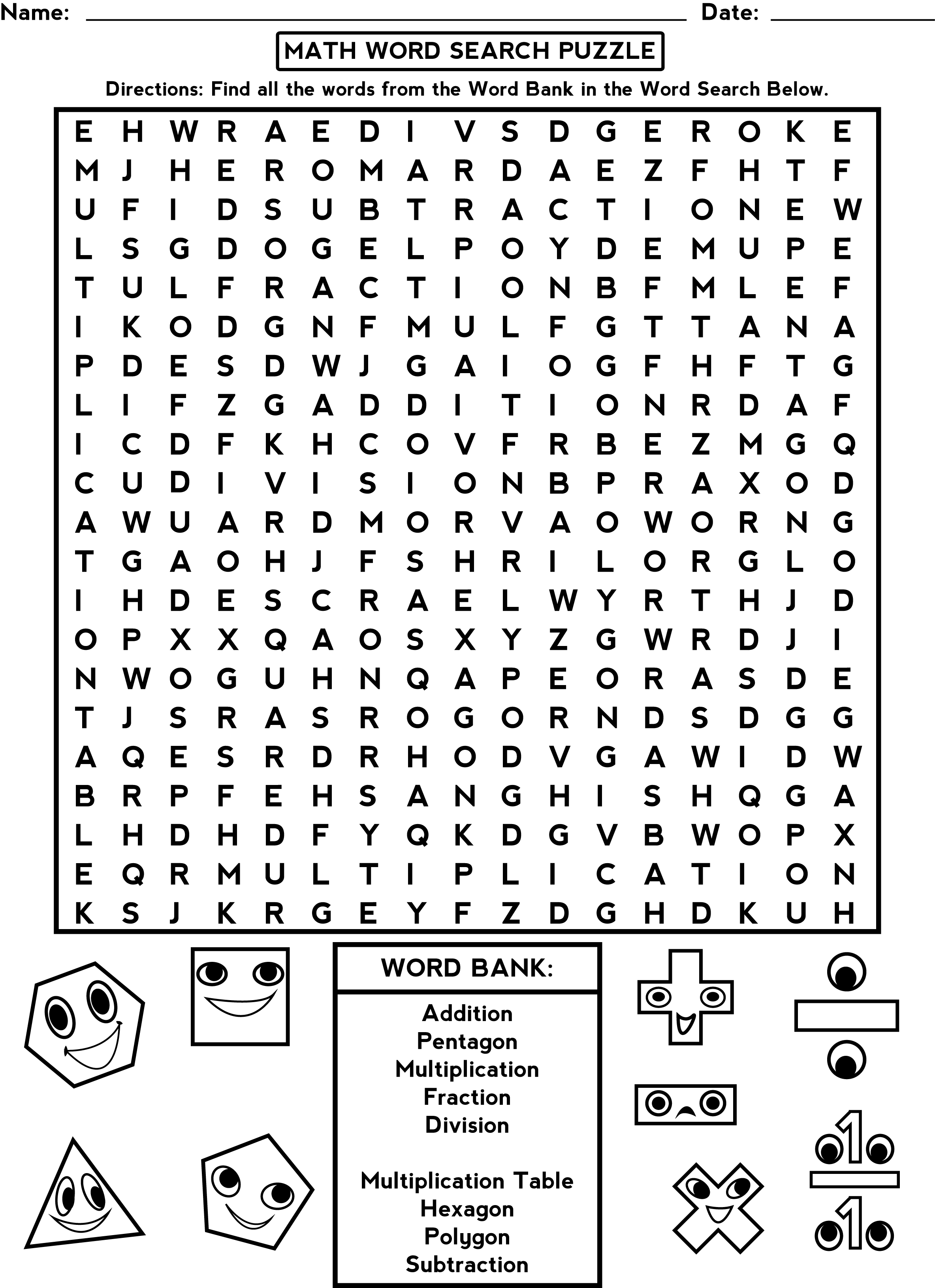 Third Grade Word Search