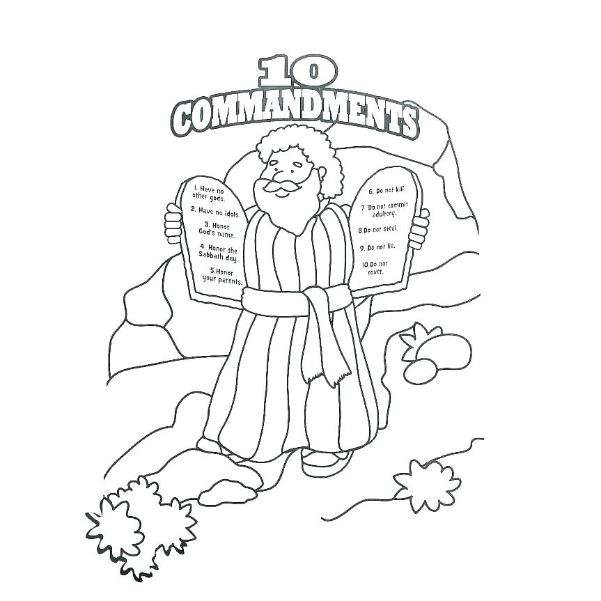 The Ten Commandments Coloring Pages Sketch Coloring Page