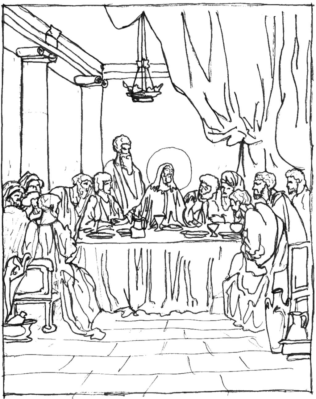 Free Printable Last Supper Coloring Pages