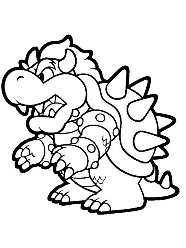 bowser coloring page # 2