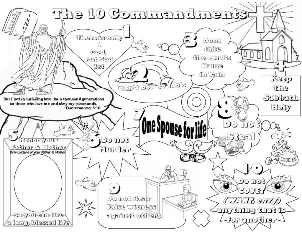 About Ten Commandments Worksheets Printable Worksheets And