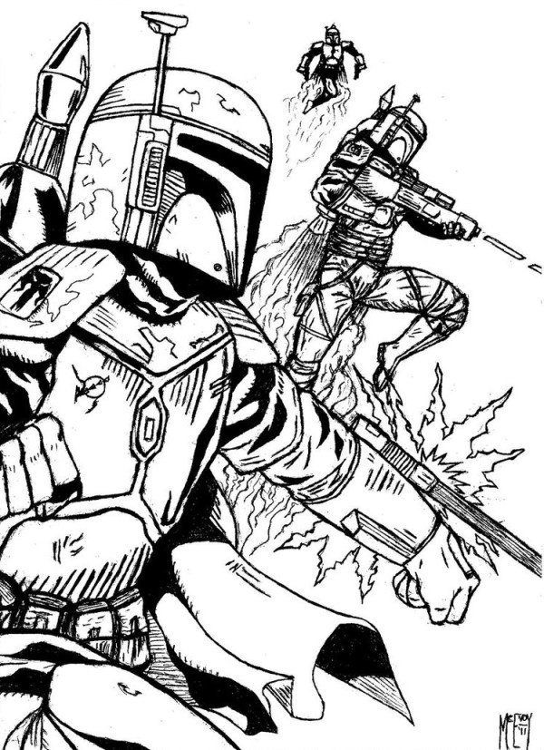 boba fett coloring page # 81