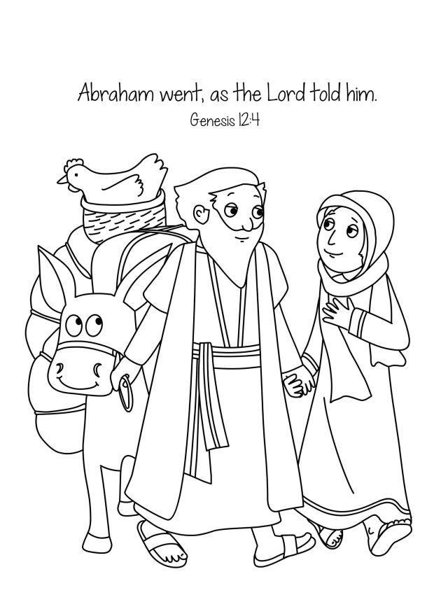 Abraham and Sarah Coloring Pages - Best Coloring Pages For Kids