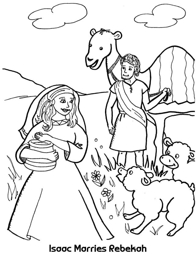 Isaac and Rebekah Coloring Pages - Best Coloring Pages For Kids
