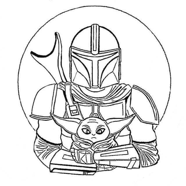 Mandalorian Coloring Pages - Best Coloring Pages For Kids