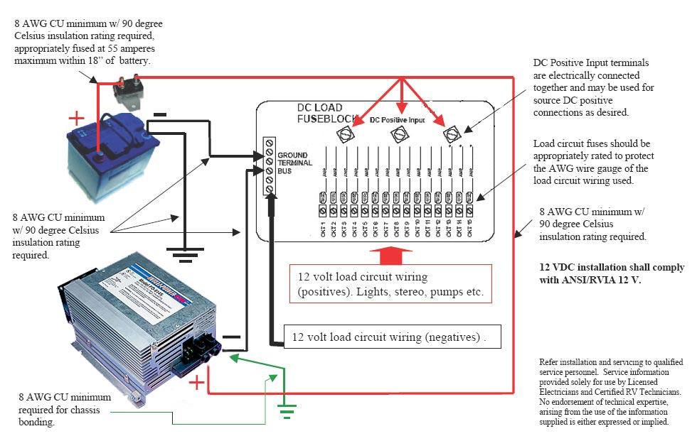 12 volt dc light wiring schematics