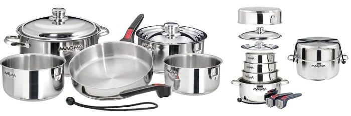 Magma A10-360L-IND 10 Piece Stainless Steel Cookware Set