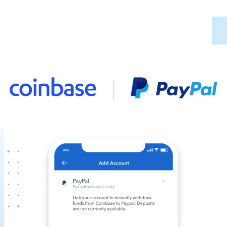 You can now buy crypto currencies on Coinbase via PayPal