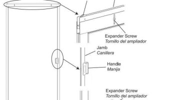 How to adjust sliding screen door