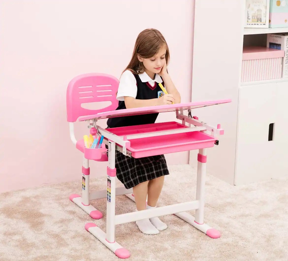 kids desk chairs uk chair for office staff beautiful pink girls  best quality children